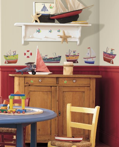 RoomMates-RMK1134SCS-Ship-Shape-Peel-Stick-Wall-Decals-34-Count