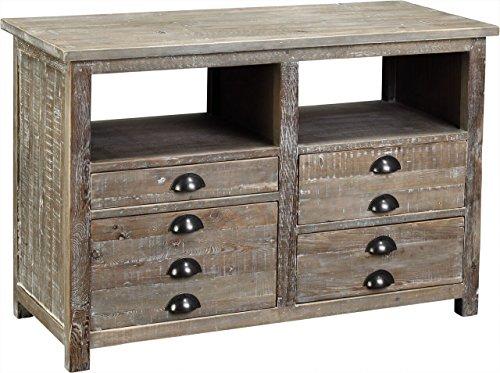 Antique White Console (Burnham Home 17212 Dexter Media Cabinet, White-Wash)