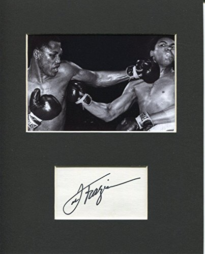 Olympic Memorabilia (Autographed Joe Frazier Picture - Heavyweight Olympic Champ Rare Display - Autographed Boxing Photos)