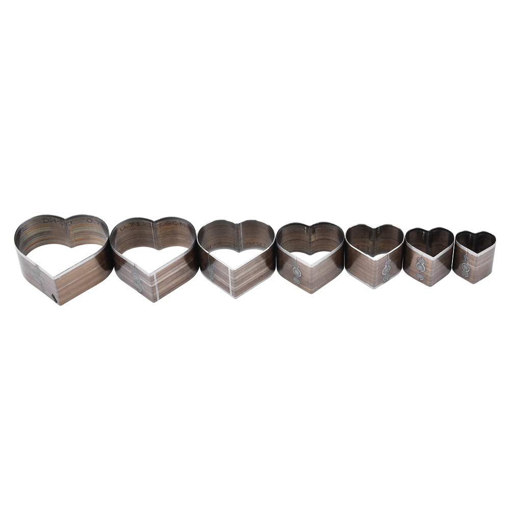 7Pcs Leather Punching Mold 20-50mm One Hole Hollow Square DIY Craft Tool for Strap Bag Belt Wallet Making