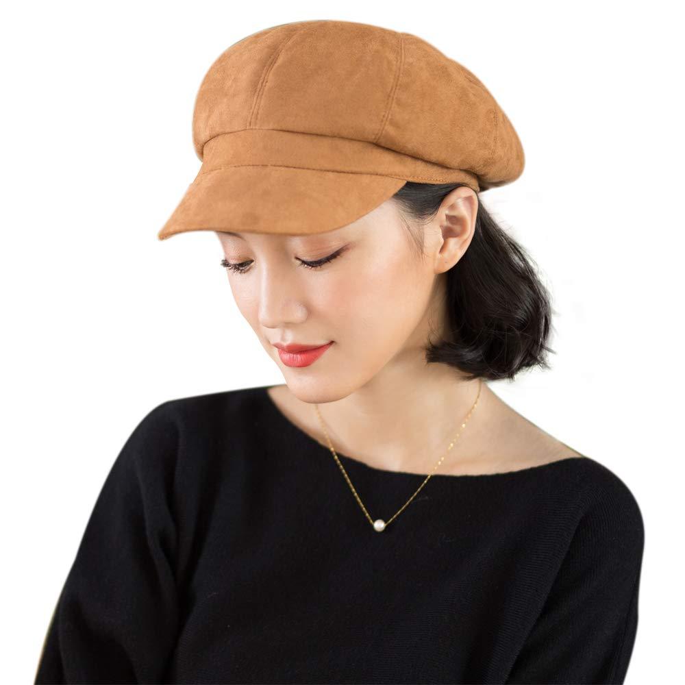 677888 Newsboy Hat for Women Beret Octagonal Cap Hat Painter Hat Fashion Adjustable