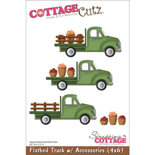 CottageCutz 499983 Die with Foam, 4 by 6-Inch, Flatbed Truck with Accessories