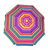 Shadezilla Platinum 6.5 ft Beach Umbrella UPF 100 with Vent, Tilt, Carry Bag