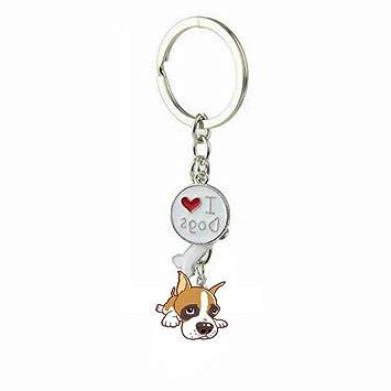 Amazon.com: Wetietir llavero para perro pequeño creativo con ...