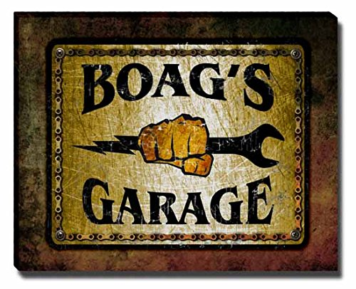 boags-garage-stretched-canvas-print