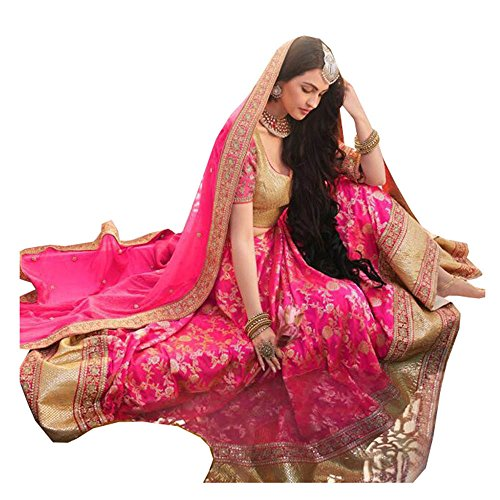 Da Facioun Indian Women Designer Wedding pink Lehenga Choli SS-5074