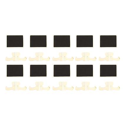 10pcs Mini Pizarra Mensaje pizarra tablón de notas con pinza ...