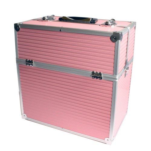 Aluminium Multikoffer Kosmetikkoffer Werkzeugkoffer Schminkkoffer pink Maße:36cm x 23cm x 37cm