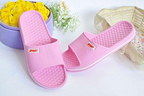 Sommer Männer Frauen Hausschuhe Bad Anti-Rutsch Hausschuhe Schuhe Rosa