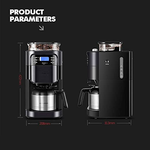 Bean to Cup - Cafetera de filtro para 8 tazas (temporizador de 24 ...