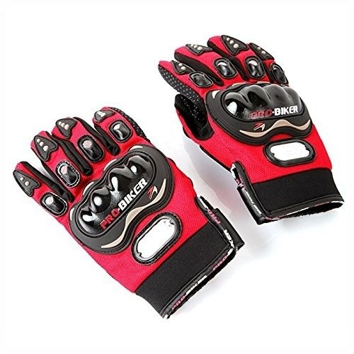 Red Motorcycle Accessories Pro-Bike Parts Motocross Racing Protection Sports Adjustable Gloves Size XL Fit For Honda CBR 600 F2 F3 F4 F4i 1991-2007