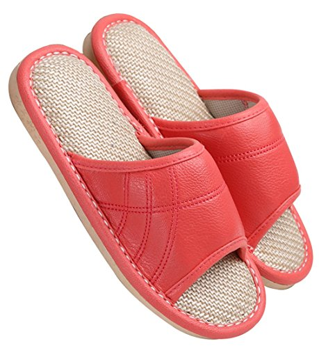 Blubi Dames Zomer Snoep Kleur Vlas Huis Slippers Gezellige Dames Slippers Open Teen Slippers Oranje