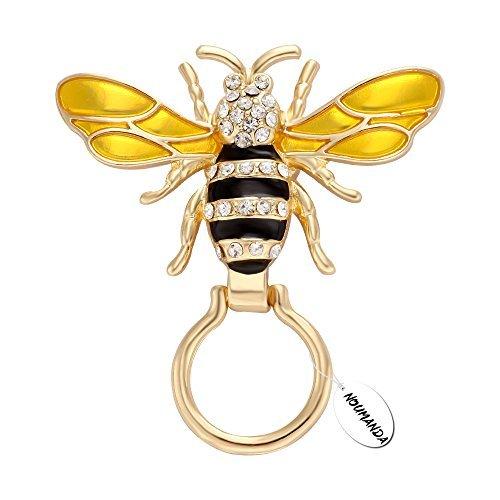 - NOUMANDA Crystals Charm Honeybee Eyeglasses Holder &Brooch Pin