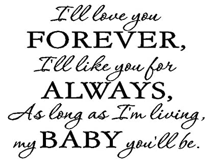 Amazoncom Byyoursidedecal Ill Love You Foreverill Like You For