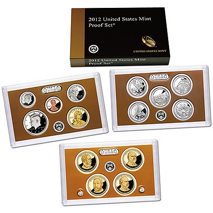 2012 United States 14-coin Proof Set - OGP box & COA