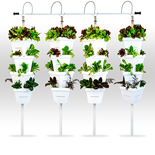 Vertical Hydroponic Diy 4 Tower Garden System