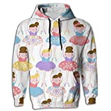 Paskcc Men's Hoodie Graphic Tops Shirt Coat Digital Print Ballet Dance Girl Juniors