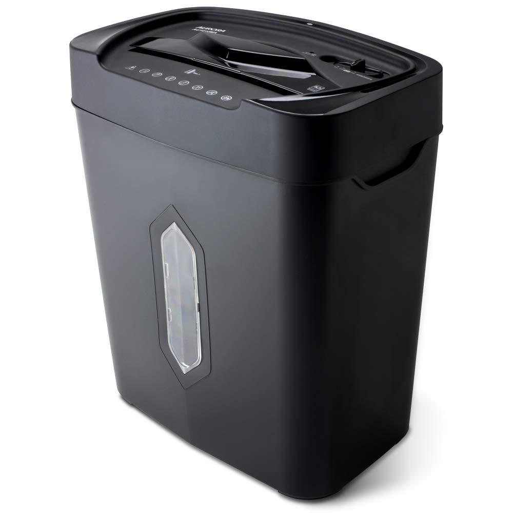 Aurora AU1010MA High-Security 10-Sheet Micro-Cut Paper, Credit Card Shredder, Large 5.2-Gals Basket with Easy Lifting Handle by Aurora