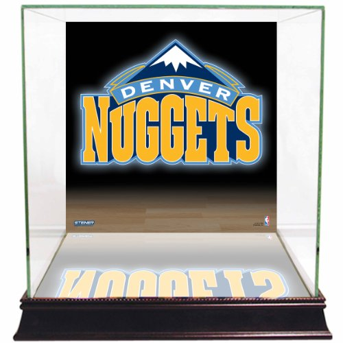 Steiner Sports NBA Denver Nuggets Glass Basketball Display Case with Team Logo (Steiner Sports Basketballs)