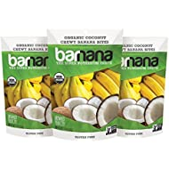 Organic Coconut Chewy Banana Bites - 3.5 Ounce (3 Count) - Delicious Barnana Potassium Rich Banana Snacks - Lunch Dinner Sports Hiking Natural Snack - Whole 30, Paleo, Vegan