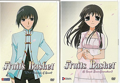 FRUITS BASKET - A Great Transformation? **PLUS** FRUITS BASKET - What becomes of Snow? (Set of Two DVDs) (2002) (Fruits Basket Dvd Set)