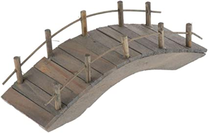 Amazon Com Loveindiy Arch Bridge Miniature 1 12 Dollhouse Fairy Garden Craft Bonsai Moss Decor Large Toys Games