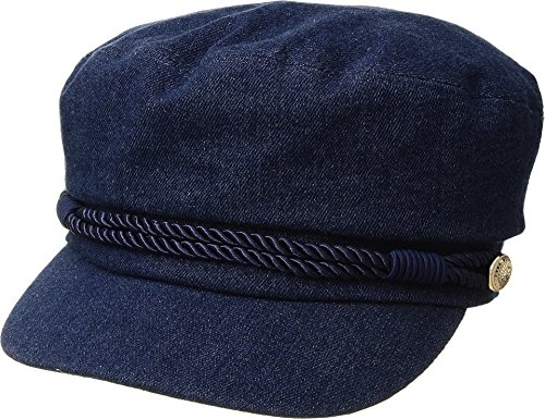 Hat Attack Women's Summer Emmy Newsboy Cap Denim One Size