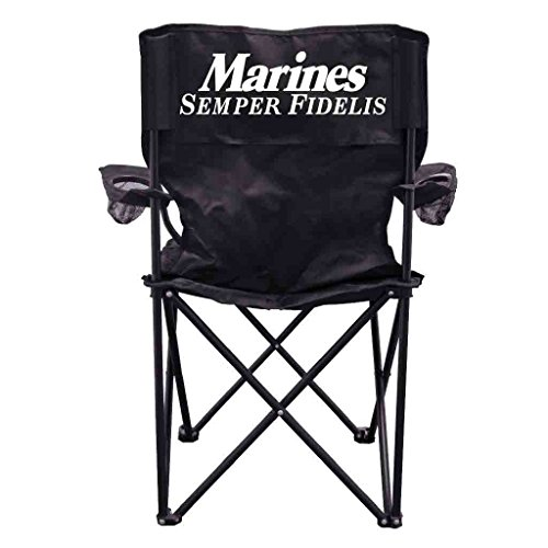 VictoryStore Outdoor Camping Chair - Marines Semper Fidelis Folding Camping Chair with Carry Bag