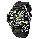 LANDFOX Waterproof Multi Function Military Digital LED Quartz Sports Wrist Watch GN
