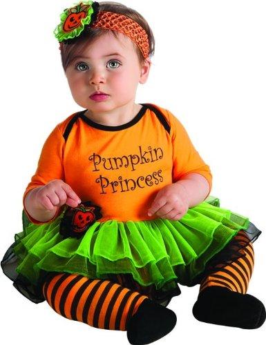 Rubie's Costume My First Halloween Pumpkin Princess Tutu And Onesie, Orange, 6-12 Months