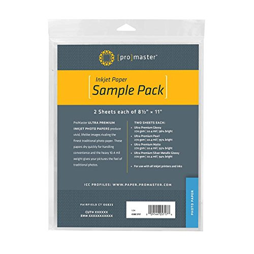 - Promaster Photo Paper Sample Pack
