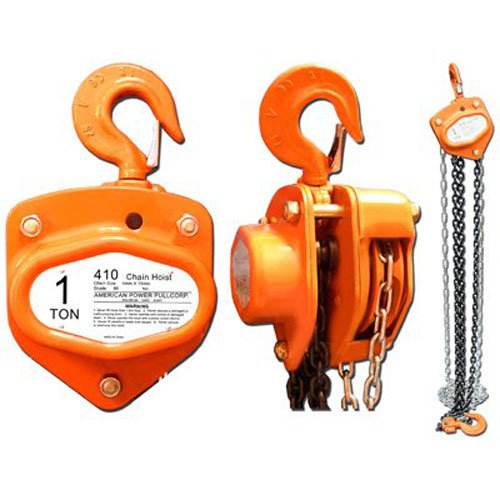 AMERICAN POWER PULL CORP 410 Chain Block, - Hand 10 Hoist Chain