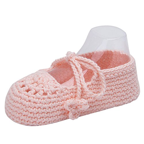 Pictures of Kuner Handmade Crochet Newborn Baby Shoes Mary 1