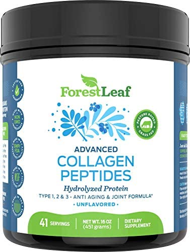 Advanced Hydrolyzed Collagen Peptides - Unflavored Protein Powder - Mixes Into Drinks and Food - Pasture Raised, Grass Fed - for Paleo and Keto; Joints and Bones - 41 Servings Collegen 9