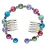 PROHAIR Really Austrian Crystal Dancer Bun Hair Comb Hairpins Women's Girl Wedding Hair Accessories Gift More Colors