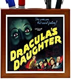 Rikki Knight Vintage Movie Posters Art Dracula's Daughter 5 Design 5-Inch Wooden Tile Pen Holder (RK-PH3708)