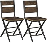 Cheap Ashley Furniture Signature Design – Kavara Barstools – Set of 2 – Industrial Style – Gray/Brown