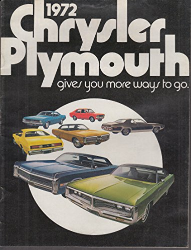 1972 Chrysler & Plymouth brochure Cuda Road Runner Fury New Yorker Imperial