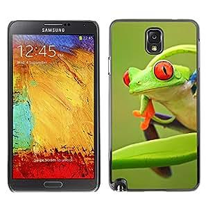 X-ray Impreso colorido protector duro espalda Funda piel de Shell para SAMSUNG Galaxy Note 3 III / N9000 / N9005 - Frog Green Orange Tropical Summer