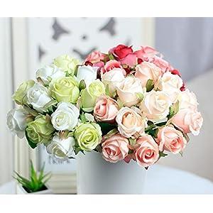 12Pcs Artificial Rose Bouquet Decorative Silk Flowers Bride Bouquets for Wedding Home Party Decoration Wedding Supplies 7