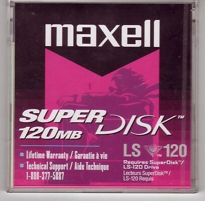 Maxell LS-120 SUPERDISK-120MB 3.5IN RETAIL PK 5PK ( 570350 )