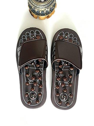 Brown Hong Per Estivi Jia Primaverile Massaggio Sandali brown 44 Scarpe Casa 43 Pantofole Da 42 Interni 45 Rotanti R1xxwFvdZq