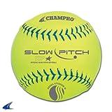 Champro Stadium Leather USSSA Slow Pitch (Optic Yellow, 12-Inch)