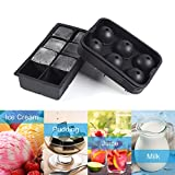 Silicone Ice Cube Mold Tray for Whiskey, Cocktail, Beverages and More (Large ice cube)