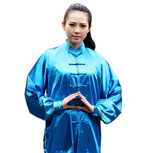 Caleen6 Unisex Kung Fu Tai Chi Silk Uniform Martial Arts Wear Sports (Silk Uniform)