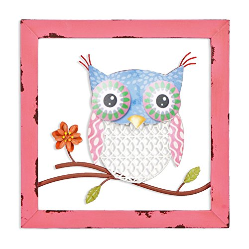 Xing Cheng Home Wall Decoration Wall Art Colorful Owl Metal Wall
