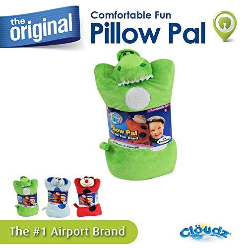 Cloudz Plush On Hand Kids Travel Pillow Pal - Dinosaur