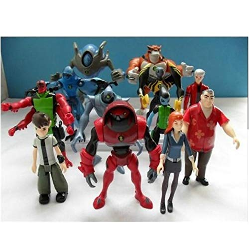 Anime Collectible Action Figure - 12Pcs/Set Anime Ben 10 Gwen Tennyson Grandpa Four Arms widmult Alien PVC Action Figure Collection Model Toys - -