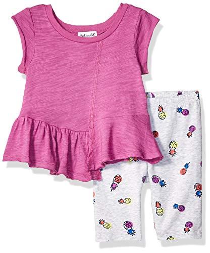 - Splendid Baby Girls Pineapple Print Legging Set, Radiant Orchid, 3/6 mo