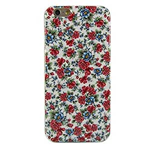 SOL Beautiful Flowers Design Pattern Soft TPU Case Cover for iPhone 6